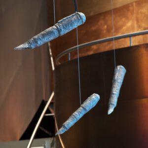Peter Wächtler: Ohne Titel (Füller)/ Untitled (Fountain pens), 2019, permanente Installation kupferbar im Marta / permanent installation in Marta's kupferbar, Foto/ photo: Hans Schröder © VG Bild-Kunst, Bonn 2020