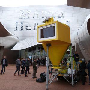Blick in die Ausstellung 8. RecyclingDesignpreis, Lemon Loft, Jan Körbes, 2018