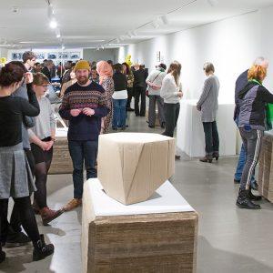 Blick in die Ausstellung 8. RecyclingDesignpreis, Eröffnung, 2018