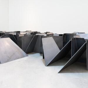 Blick in die Ausstellung Willkommen im Labyrinth, Royden Rabinowitch, Stan and Olli, 2007 © Der Künstler