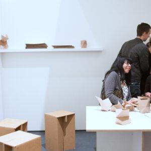 Blick in die Ausstellung Der Fremde Raum, Stefan Eberstadt: Non Linear Story, 2016 © Der Künstler