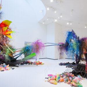 Blick in die Ausstellung Der Fremde Raum, Arne Quinze: Natural Chaos Marta Herford, 2016, ©VG Bild-Kunst, Bonn 2016, Foto: Marta Herford