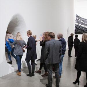 Blick in die Ausstellung Der Fremde Raum, Henrique Oliveira: Parietal Passage, 2016 © Der Künstler