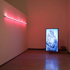 Blick in die Ausstellung Die innere Haut, Shahryar Nashat: Present Sore, 2016, HD Video © Der Künstler