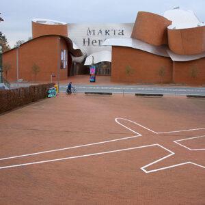 James Bridle: Drone Shadow, seit 2012, Installation Herford 2016