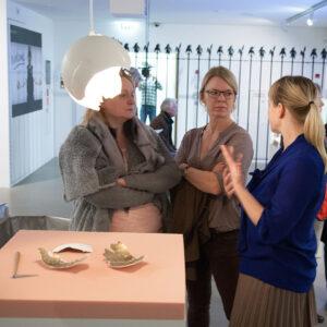 Blick in die Ausstellungb Brutal Schön, Eröffnung, 2016