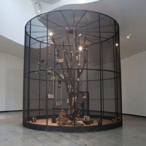 Blick in die Ausstellung Mark Dion, Mark Dion: Library for the Birds of Herford, 2015