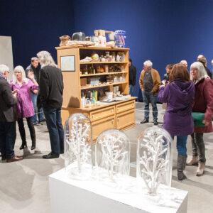 Blick in die Ausstellung Mark Dion, Eröffnung, 2015